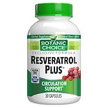Botanic Choice Resveratrol Plus Dietary Supplement Capsules