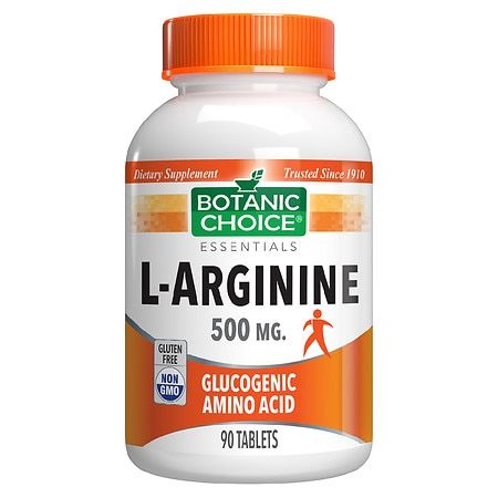 Botanic Choice L-Arginine 500 mg Dietary Supplement ...