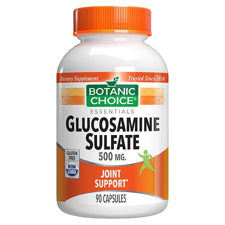 Botanic Choice Glucosamine Sulfate 500 mg Dietary Supplement Capsules