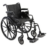 Karman Lightweight Deluxe 18 inch Steel Wheelchair with Removable Armrests, 36 lbs.