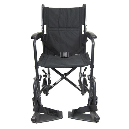 karman 19 inch steel transport chair 23 lbs black