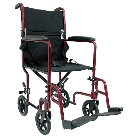 karman 19 inch aluminum lightweight transport chair 19 lbs