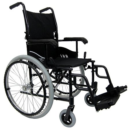 Karman Ultra lightweight 18 inch Aluminum Wheelchair, 24 lbs. Black