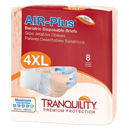 Tranquility Air-Plus Bariatric Disposable Briefs - 32 ea.