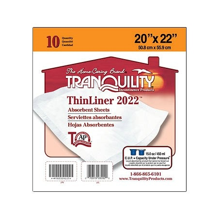 Tranquility ThinLiner Pads - 100 ea.
