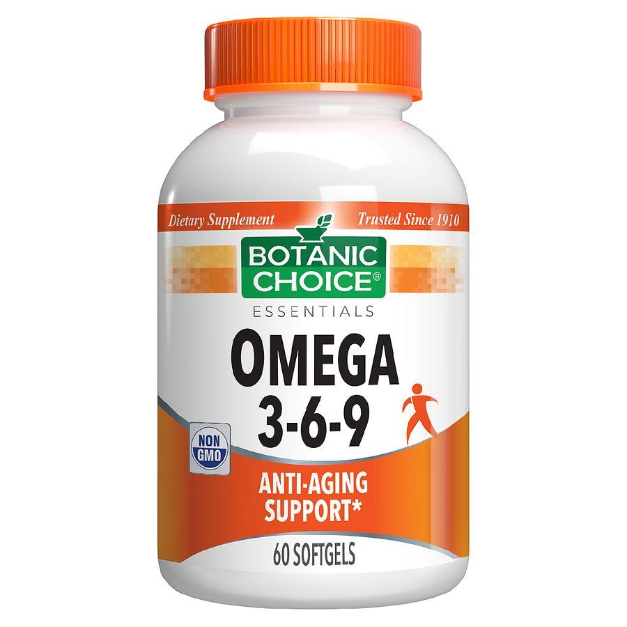 Botanic Choice Omega 3 6 9 1000 Mg Dietary Supplement Softgels