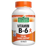 Botanic Choice Vitamin B-6 100 mg Dietary Supplement Tablets
