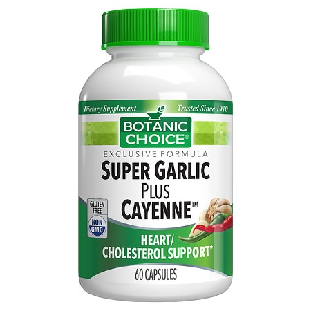 Botanic Choice Super Garlic plus Cayenne Herbal Supplement Capsules