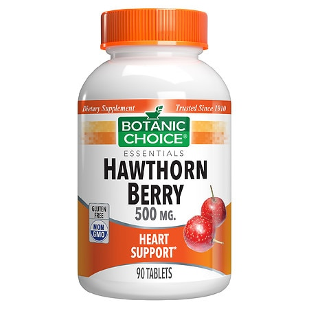 Botanic Choice Hawthorn Berry 500 mg Herbal Supplement Tablets