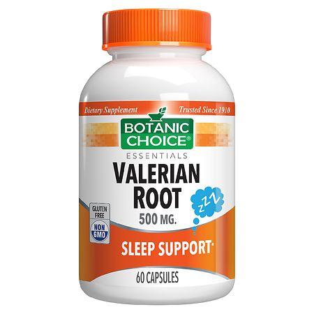 Botanic Choice Valerian Root 500 mg Herbal Supplement Capsules - 60 ea.