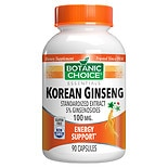 Botanic Choice Korean Ginseng 100 mg Herbal Supplement Capsules