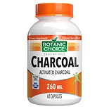 Botanic Choice Charcoal 260 mg Dietary Supplement Capsules
