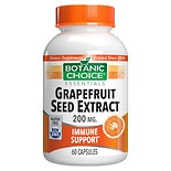 Botanic Choice Grapefruit Seed Extract 200 mg Dietary Supplement Capsules