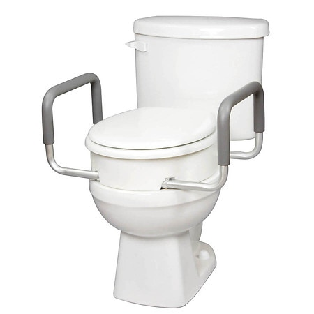 Carex Toilet Seat Elevator with Arms for Standard Toilets