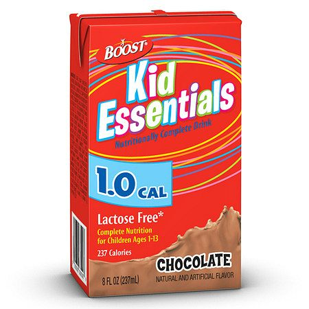 Boost Kid Essentials 1.0 Medical Nutritional Drink Chocolate,8 oz Cartons, 27 pk
