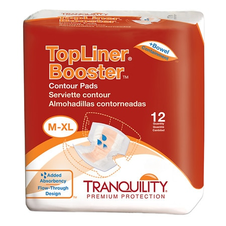 Tranquility TopLiner Booster Contour Pad - 120 ea.