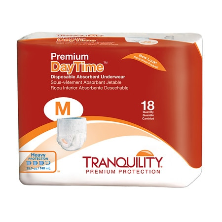 Tranquility Premium DayTime Disposable Absorbent Underwear Heavy Protection - 72 ea.