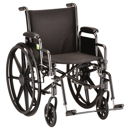 Nova 16 inch Steel Wheelchair with Detachable Arms and Elevating Legrests