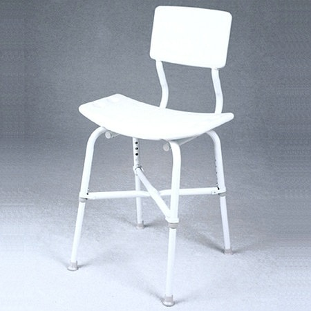 TFI Medical Extra High Blow Molded Bath Bench with Back - 1 ea.