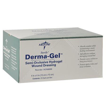 Medline Derma-Gel Semi-Occlusive Hydrogel Wound Dressing - 25 ea