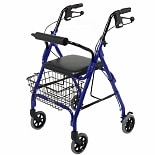 Medline 4 Wheeled Walker Blue