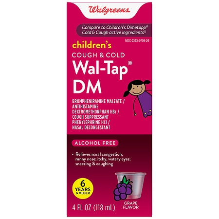 Walgreens Children's Wal-Tap DM Cold & Cough Elixir Grape