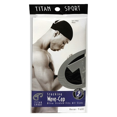 Titan Sport Stocking Wave-Cap Black