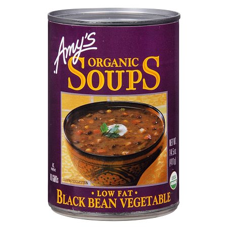 Amy's Organic Soup, Low Fat Black Bean Vegetable - 14.5 oz.