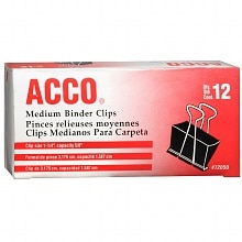 Acco Binder Clips Medium