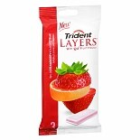 Trident Layers Sugar Free Gum Wild Strawberry + Tangy Citrus