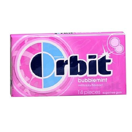 Wrigley's Orbit Sugarfree Gum Bubblemint
