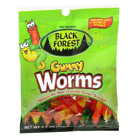 Black Forest Gummy Worms Candy - 4.5 oz.