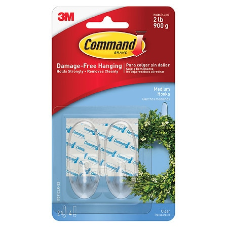 Command General Purpose Medium Hooks Clear
