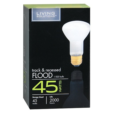 Living solutions light bulb 45 watt track recessed flood walgreens product large image aloadofball Images
