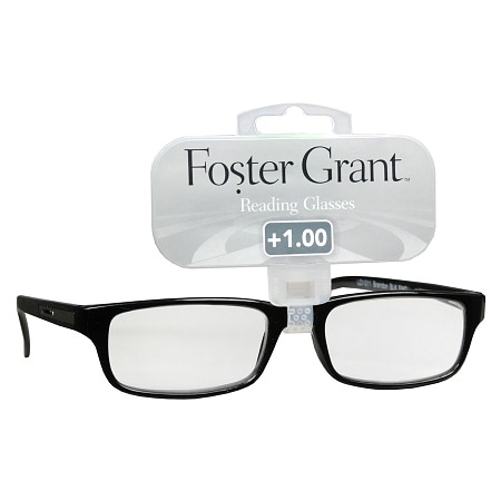 Foster Grant Plastic Reading Glasses Brandon +1.00 Assorted Colors