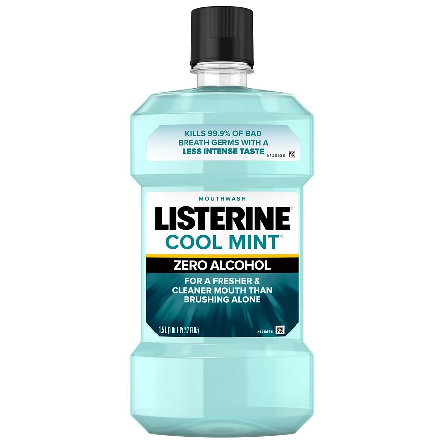 7844fed44fee Listerine Zero Alcohol-Free Mouthwash, Cool Mint Mint