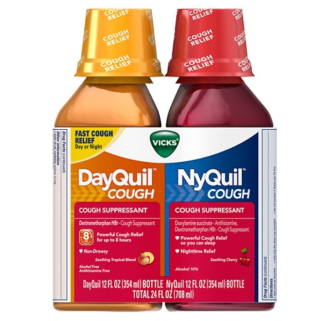 Vicks Dayquil Nyquil Cough Relief Combo Pack, Liquid