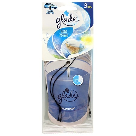 Glade Car Air Freshener Clean Linen3 0 Ea