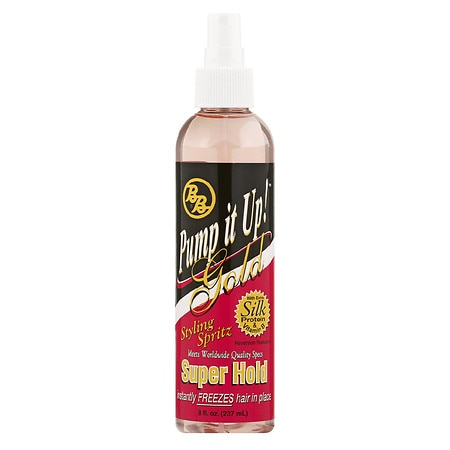 BB Pump It Up! Gold Styling Spritz Super Hold