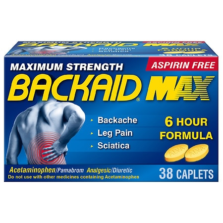 Backaid Max Pain Relief Caplets - 28 ea