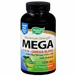 Nature's Way Mega 3/ 6/ 9 Omega Blend 1350 mg Dietary Supplement Softgels