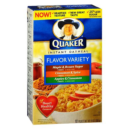 Quaker Instant Oatmeal Flavor Variety,10 pk