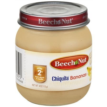 Beech Nut Stage 2 Fruit Baby Food Bananas - 4 oz.