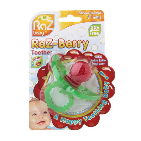 Raz Baby Raz-Berry Silicone Teether for 3+ Months - 1 ea