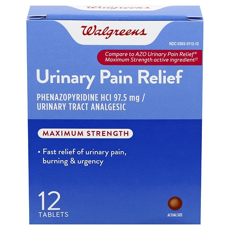 Image of Walgreens Urinary Pain Relief Tablets - 12 ea.