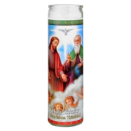 St. Jude Holy Trinity Prayer Candle 8.25 inch