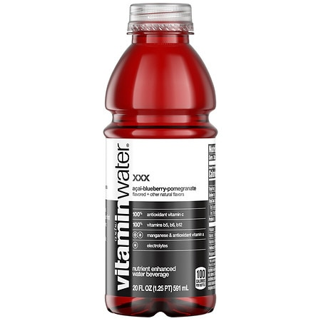 Glaceau Vitaminwater Nutrient Enhanced Beverage Bottle Acai-Blueberry-Pomegranate