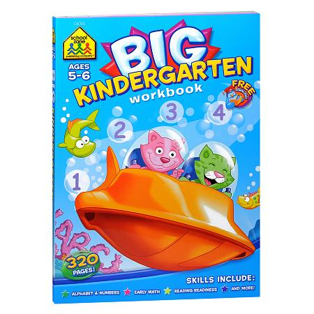 School Zone Big Kindergarten Workbook | Walgreens