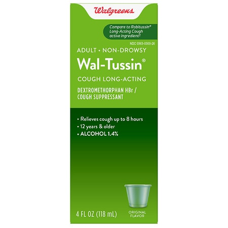 Walgreens Wal-Tussin Long-Acting Cough Suppressant Liquid Original