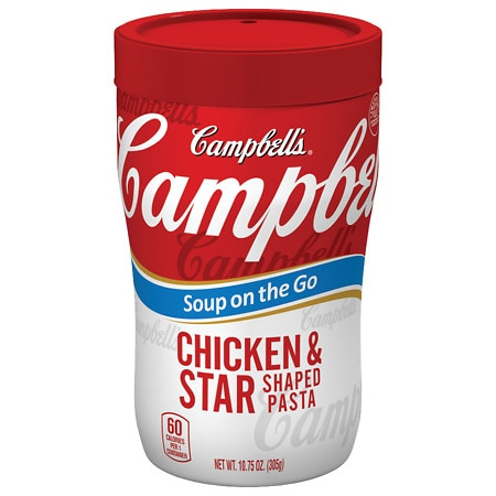 Campbell's Soup on the Go Chicken & Star Shaped Pasta Soup - 10.75 oz.